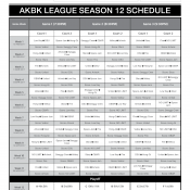 SEASON 12 SCHEDULE IS RELEASED NOW