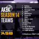14 teams confirmed for Season 14