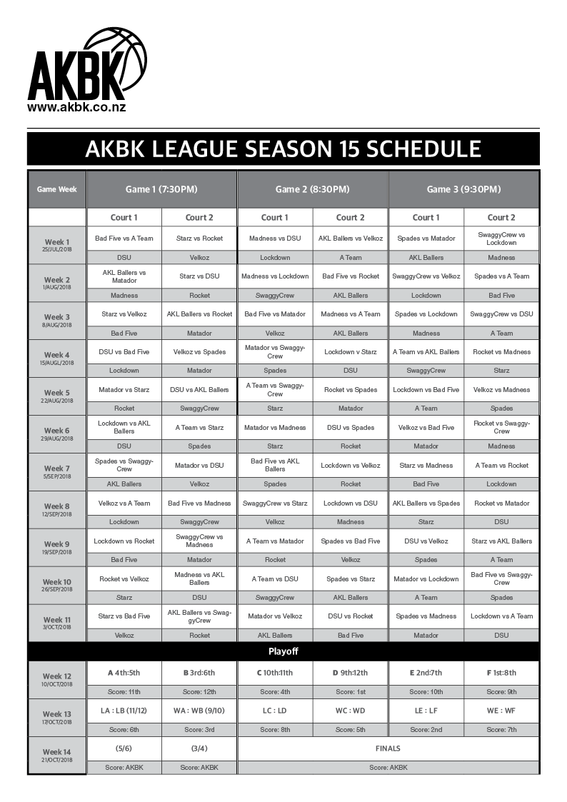 S15 SCHEDULE IS OUT HERE - AKBK