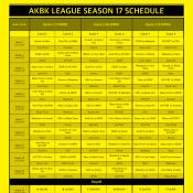 S17 Schedule